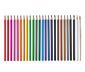 Akvarelové pastelky, 24 ks, v dóze, včetně štětce