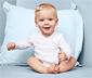 5 kisgyerek hosszú ujjú body, fehér/kék