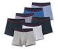 7 fiú boxer alsónadrág szettben, kék/csíkos