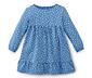 Kislány jerseyruha, kék, pötty