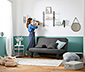 Max Winzer® klappbares Schlafsofa, 140 x 200 cm