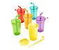 6 lezárható pohár szettben, színes