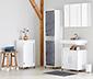Szafka łazienkowa pod umywalkę ze szklanymi drzwiami