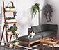 Kwietnik balkonowy w formie drabinki, 4-poziomowy