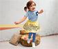 Lányka szoknya, sárga-kék