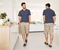 Spodnie bojówki o długości 3/4, beżowe