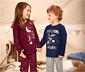 Pijama Takımı »Glow in the dark«, lacivert ve kırçıllı gri