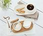 Porcelán szervírozó készlet, tölgyfa tálcával