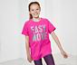 Lány rövidujjú szabadidő felső, pink