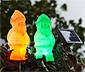 Solarne świecące krasnale ogrodowe, 2 sztuki
