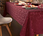 Velký žakárový ubrus, vínově červený, cca 150 x 275 cm