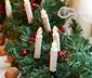 Svíčky s LED na vánoční stromeček, 10 ks