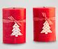 Ozdobné svíčky, 2 ks, červené