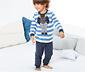 Lacivert Mavi Organik Pamuklu Pijama Takımı