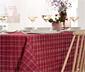 Asztalterítő, 10 személyes, piros