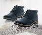 Kotníkové boty z velurové kůže