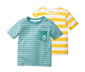 Sarı Mavi Organik Pamuklu Tişört