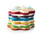 Formy do pieczenia ciasta z kilkoma różnymi warstwami, 3 sztuki