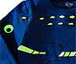 Bluzka z krokodylem z fluorescencyjnymi akcentami