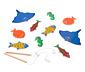 Duża drewniana gra zręcznościowa w łowienie rybek