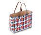 Dekoratívny nákupný košík s pletenou štruktúrou