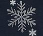 Piżama damska z dżerseju z długim rękawem i brokatowym nadrukiem w śnieżynki