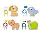 Goula Einfädelspiel »Tiere«
