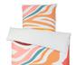 Pościel z perkalu ok. 135 x 200 cm, z motywem różnokolorowych pasków zebry