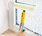 2 en 1 : balai serpillière et lave-vitres avec vaporisateur