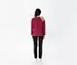 Tül Detaylı Uzun Kollu Sweatshirt - Bordo