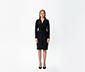 Drapeli Midi Elbise-Siyah