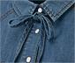 Koszula dżinsowa z ozdobnym kołnierzykiem