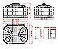 Sojag-Pavillon »Charleston« mit Stahldach und Türen, ca. 489 x 384 cm