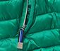 Prošívaná bunda, zelená
