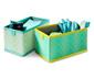 2 förvaringsboxar för byrålådor, rektangulära