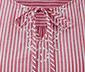 Bluzka w paski z haftem ażurowym i dekoltem z ozdobną tasiemką