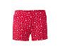 Női rövidnadrágos pizsama, piros/szürke, szív