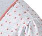 Szara koszula nocna w różowe kropki z krótkim rękawem