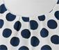 Beyaz Mavi Puantiyeli Bluz