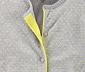 Sweter rozpinany, szary w żółte kropki