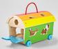 Dřevěná vkládačka Zoo vagon