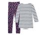 Organik Pamuklu Pijama Takımı, Beyaz-Mavi
