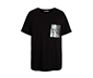 Siyah Payet Cepli Tişört