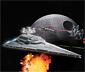 Star Wars Csillagromboló építőkészlet, fény+hang
