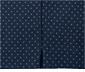 Granatowe spodnie ze stretchu w kropki o długości 3/4