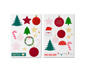 Weihnachtskarten-Set mit Stickern