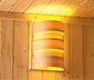 Karibu-Sauna »Brianna« mit Eckeinstieg,  inkl. 9-kW-Bio-Kombiofen, ca. 196 x 196 cm