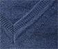 Pull en laine mérinos avec col en V, bleu chiné