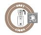 Induktions-Milchaufschäumer weiß, spülmaschinengeeignet
