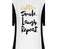 Siyah Beyaz Coffee Smile Laugh Repeat Kadın Tişört